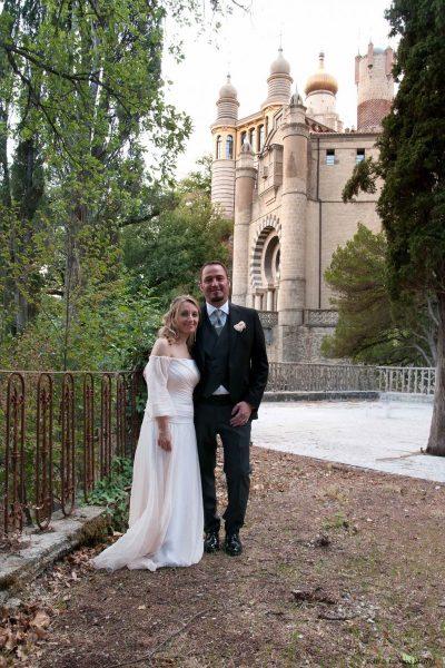 Matrimonio in Rocchetta, gli sposi nel parco